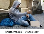 A Homeless Person Looking For...