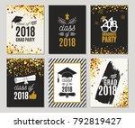 graduation class of 2018... | Shutterstock .eps vector #792819427