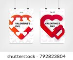 valentines day poster or flyer... | Shutterstock .eps vector #792823804