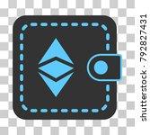 ethereum classic wallet vector... | Shutterstock .eps vector #792827431