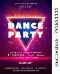 dance party poster vector... | Shutterstock .eps vector #792831115