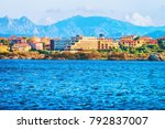 cityscape of olbia with... | Shutterstock . vector #792837007