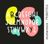 simple font with abstract... | Shutterstock .eps vector #792837511