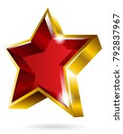gold star symbol graphic... | Shutterstock .eps vector #792837967