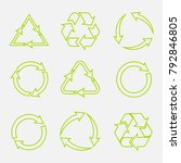 recycling symbol of... | Shutterstock .eps vector #792846805