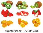 collection of fruits | Shutterstock . vector #79284733