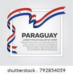 paraguay flag background   Shutterstock .eps vector #792854059