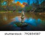 stone cairn in stream sedona... | Shutterstock . vector #792854587