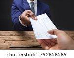 close up of a businessman's... | Shutterstock . vector #792858589