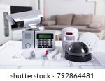 close up of home security... | Shutterstock . vector #792864481