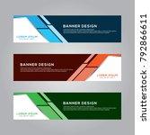 abstract modern banner... | Shutterstock .eps vector #792866611