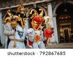 venice  italy    february 27 ... | Shutterstock . vector #792867685