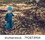 child walking in the park. | Shutterstock . vector #792873904