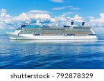 big cruise liner ship in the... | Shutterstock . vector #792878329
