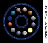planets of astrology   french... | Shutterstock .eps vector #792883531