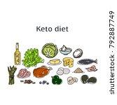 ketogenic diet  vector... | Shutterstock .eps vector #792887749
