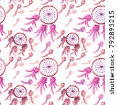 seamless watercolor texture ... | Shutterstock . vector #792893215