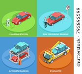 parking isometric collection... | Shutterstock . vector #792893599