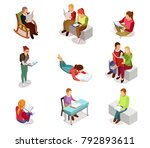 colored and isolated isometirc... | Shutterstock . vector #792893611