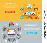 auto service horizontal banners ... | Shutterstock . vector #792894211