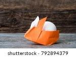 One Colorful Orange Origami...