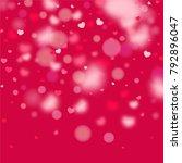 hearts random background. st.... | Shutterstock .eps vector #792896047