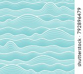seamless abstract sea wave... | Shutterstock .eps vector #792896479