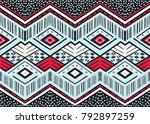 ikat geometric folklore... | Shutterstock .eps vector #792897259