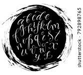 handwritten script font. hand... | Shutterstock .eps vector #792898765