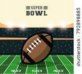 american football bowl... | Shutterstock .eps vector #792898885