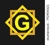 g golden ornament logo | Shutterstock .eps vector #792904321