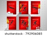 eps 10 vector set of sport... | Shutterstock .eps vector #792906085