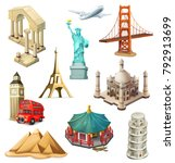travel  tourist attraction. 3d... | Shutterstock .eps vector #792913699