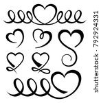 valentines day hearts icon set | Shutterstock .eps vector #792924331