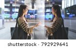 woman choosing product inside... | Shutterstock . vector #792929641
