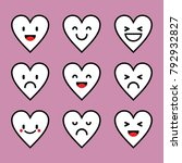 emoticon love character pink...   Shutterstock .eps vector #792932827