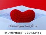 red heart in the envelope for... | Shutterstock . vector #792933451