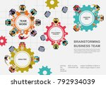 business concepts for analysis... | Shutterstock .eps vector #792934039