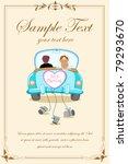 illustration of just married... | Shutterstock .eps vector #79293670