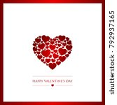 valentines day vector... | Shutterstock .eps vector #792937165