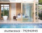 luxury interior design in... | Shutterstock . vector #792943945