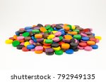 Pile Of 15x4 Mm Colored Wooden...