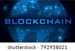 blockchain  crypto currencies   ... | Shutterstock .eps vector #792958021