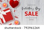 happy valentine's day sale... | Shutterstock .eps vector #792961264