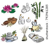 hand drawn set of spa... | Shutterstock .eps vector #792961285