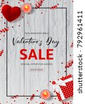 happy valentine's day sale... | Shutterstock .eps vector #792961411