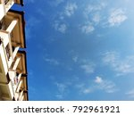 beautiful buildings and clear... | Shutterstock . vector #792961921