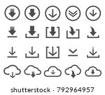 set of download icons web... | Shutterstock .eps vector #792964957