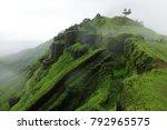 Rajgad Fort Ruins On Mountain...