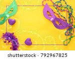 top view image of masquerade... | Shutterstock . vector #792967825